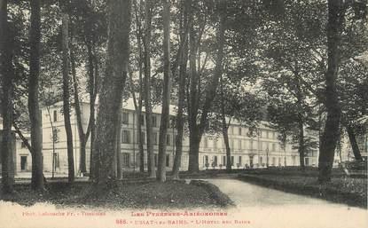 """/ CPA FRANCE 09 """"Ussat Les Bains, l'hôtel des Bains"""""""