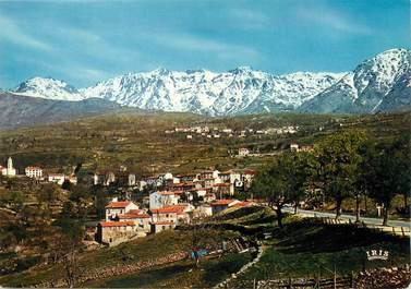 """/ CPSM FRANCE 20 """"Corse, Calacuccia, vue générale, la chaine du Monte Cinto"""""""