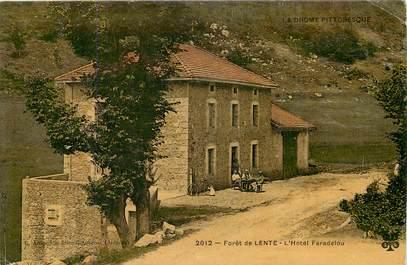 "CPA FRANCE 26 ""Forêt de Lente, Hotel Faradelou"""
