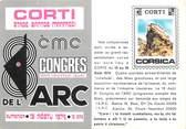 """20 Corse / CPSM FRANCE 20 """"Corse, Corté, congrés"""" / CARTE PUBLICITAIRE"""