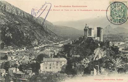 """/ CPA FRANCE 09 """"Foix et le massif de Tabe ou de Saint Barthélémy"""""""