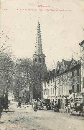 """/ CPA FRANCE 09 """"Mirepoix, cours Saint Maurice et clocher"""""""