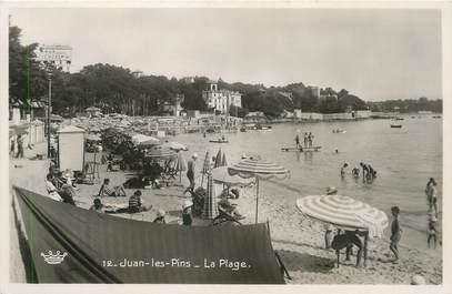 """/ CPSM FRANCE 06 """" Juan Les Pins, la plage"""""""