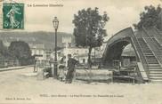 """54 Meurthe Et Moselle / CPA FRANCE 54 """"Toul, Saint Mansuy, le pont Tournant, la passerelle sur le canal"""""""
