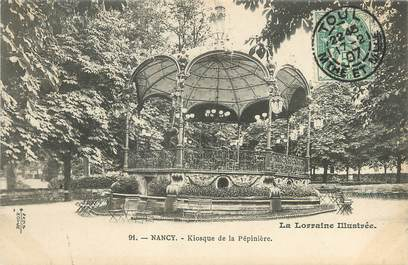 "/ CPA FRANCE 54 ""Nancy, kiosque de la Pépinière"""