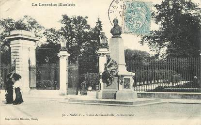 "/ CPA FRANCE 54 ""Nancy, statue de Grandville, caricaturiste"""