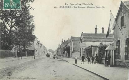 "/ CPA FRANCE 54 ""Lunéville, rue d'Alsace"""
