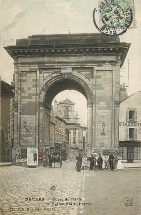 """CPA FRANCE 58 """"Nevers, Porte de Paris"""""""