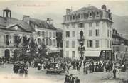 """65 Haute PyrÉnÉe / CPA FRANCE 65 """"Argelès Gazost, la mairie et la place"""""""