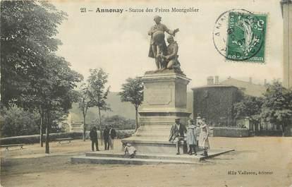 """CPA FRANCE 07 """"Annonay, statue des frères Montgolfier"""""""