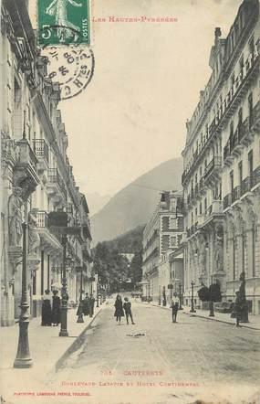 """/ CPA FRANCE 65 """"Cauterets, bld Latapie et hôtel Continental"""""""
