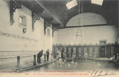 """/ CPA FRANCE 65 """"Cauterets, la piscine de l'établissement des oeufs"""""""