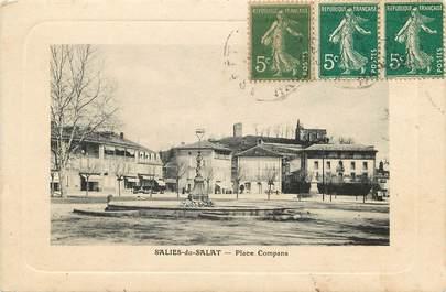"""CPA FRANCE 31 """"Salies du Salat, Place Compans"""""""