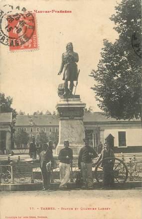 "/ CPA FRANCE 65 ""Tarbes, statue et quartier Larrey"""