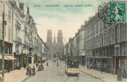 """CPA FRANCE 45 """"Orléans, rue de Jeanne d'Arc"""" / TRAMWAY"""