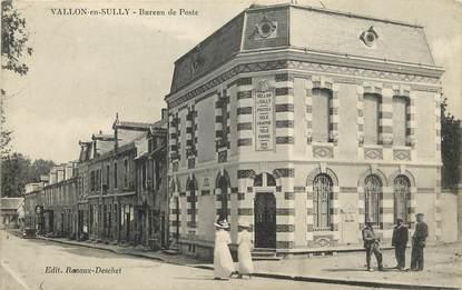 """CPA FRANCE 03 """"Vallon en Sully, bureau de POste"""""""