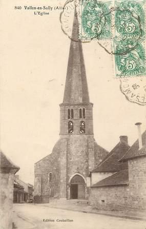 "CPA FRANCE 03 ""Vallon en Sully, L'Eglise"""