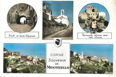 """/ CPSM FRANCE 20 """"Corse, souvenir de Monticello"""""""