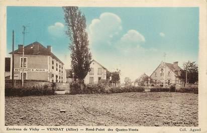 """CPA FRANCE 03  """"Environs de Vichy, Vendat, Rond Point des Quatre Vents"""""""