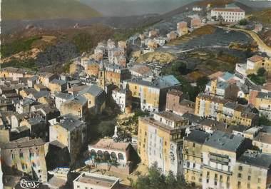"""/ CPSM FRANCE 20 """"Corse, Sartène, vue aérienne sur le centre de la ville"""""""