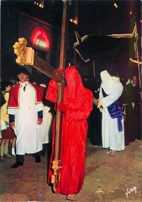 "/ CPSM FRANCE 20 ""Corse,  Sartène, processiion de Catenacciu"""