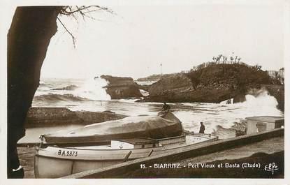 """/ CPSM FRANCE 64 """"Biarritz, port vieux et Basta"""""""