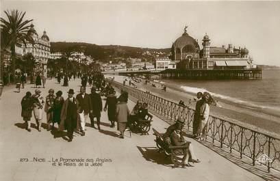 """/ CPSM FRANCE 06 """"Nice, la promenade des Anglais et le palais de la jetée"""""""
