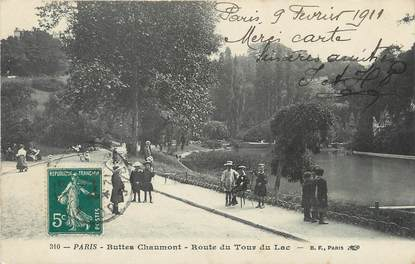 "/ CPA FRANCE 75019 ""Paris, Buttes Chaumont, route du tour du Lac"""