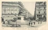 """75 Pari / CPA FRANCE 75002 """"Paris, Statue Louis XIV, rue Etienne Marcel"""""""