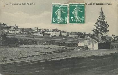 """/ CPA FRANCE 07 """"Vue générale de Saint Agrève"""""""