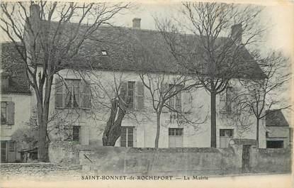 """CPA FRANCE 03  """"Saint Bonnet de Rochefort, la mairie et l'Ecole"""""""