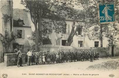 """CPA FRANCE 03  """"Saint Bonnet de Rochefort, la Mairie et l'Ecole de Garçons"""""""