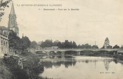 """/ CPA FRANCE 54 """"Baccarat, pont sur la Meurthe"""""""