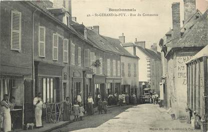"CPA FRANCE 03  ""Saint Gérand le Puy, rue du Commerce"""