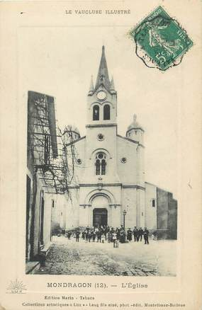 "/ CPA FRANCE 84 ""Mondragon, l'église """