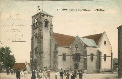 """CPA FRANCE 03  """"Saint Léon canton de Jaligny, L'Eglise"""""""