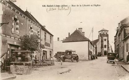 """CPA FRANCE 03  """"Saint Léon, rue de la liberté"""""""