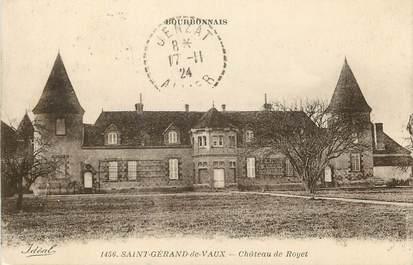 """CPA FRANCE 03  """"Saint Gérand de Vaux, Chateau de Royet"""""""