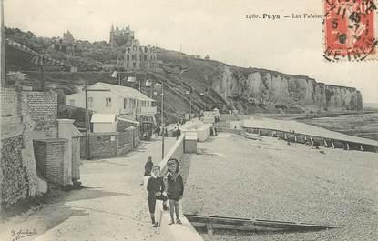 "/ CPA FRANCE 76 ""Puys, les falaises """