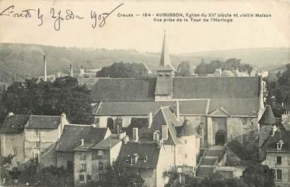 """CPA FRANCE 23 """"Aubusson, Eglise du XII ème siècle et vieilles maisons"""""""