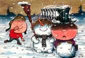 """Illustrateur CPA ILLUSTRATEUR FIX """"Chouchou et Jojo dans la neige"""""""