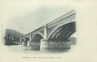 """CPA FRANCE 54 """"Frouard, pont métallique du chemin de fer"""""""