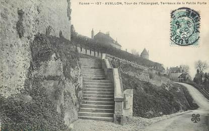 """/ CPA FRANCE 89 """"Avallon, tour de l'Escarguet"""""""
