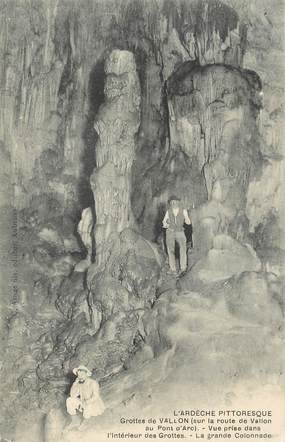 """/ CPA FRANCE 07 """"Grottes de Vallon"""""""
