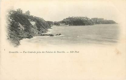 """CPA FRANCE 50 """"Granville, Falaises de Donville"""""""
