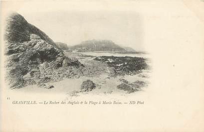 """CPA FRANCE 50 """"Granville, Le Rocher des Anglais"""""""