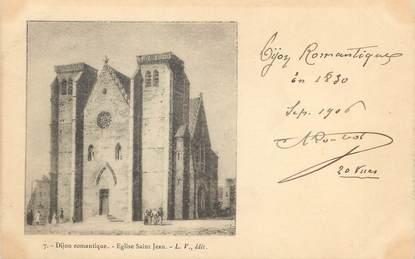 "/ CPA FRANCE 21 ""Dijon romantique, église Saint Jean"""