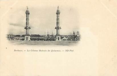 """CPA FRANCE 33 """"Bordeaux, les colonnes rostrales des Quinconces"""""""