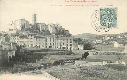 """/ CPA FRANCE 66 """"Saint Laurent de Cerdans, l'église"""""""