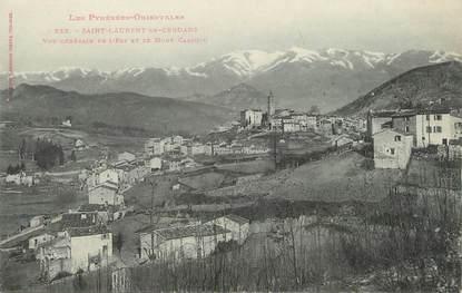 """/ CPA FRANCE 66 """"Saint Laurent de Cerdans, vue générale et le mont Canigou"""""""